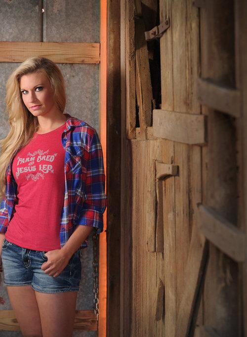 Farm Bred and Jesus Led t-shirt